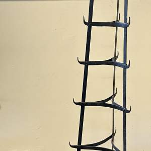 Vintage Seven Tier Strap Iron Pan Stand