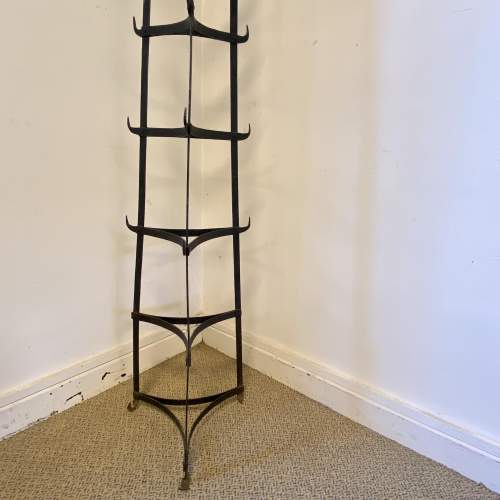 Vintage Seven Tier Strap Iron Pan Stand image-5