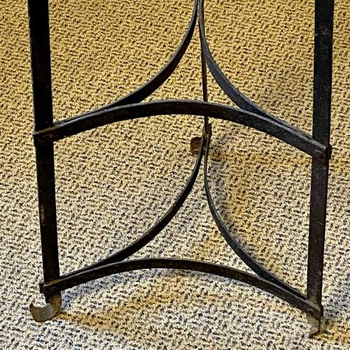 Vintage Seven Tier Strap Iron Pan Stand image-6