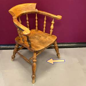 19th Century Ash and Elm Captains Chair