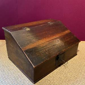 19th Century Oak Bible Box