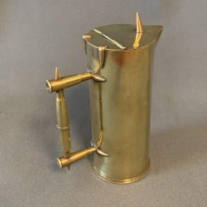 Early 20th Century Brass Trench Art Water Jug