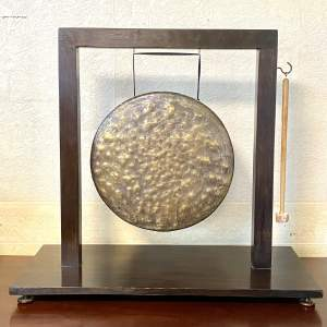 Large Wooden Mounted Dinner Gong