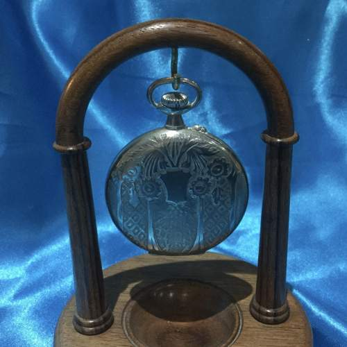 Silver Plated Gentlemans Pocket Watch image-2