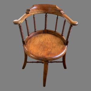 An Ash and Elm Captains Chair