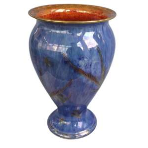 Rare Large Wedgewood Lustre Hummingbirds Vase by Daisy Makeig-Jones