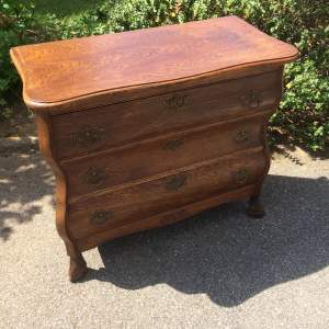 20th Century Oak Continental Chest of Drawers