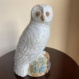 An Earthenware Owl by Bernard Rooke