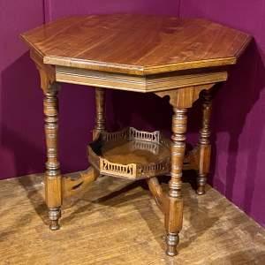Victorian Octagonal Mahogany Occasional Table