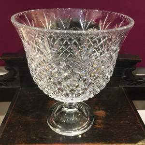 Fine Quality Lead Crystal Cut Glass Large Vase or Bowl