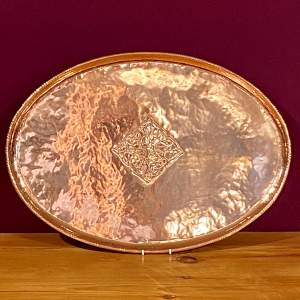 Arts and Crafts Large Copper Tray by Hugh Wallis