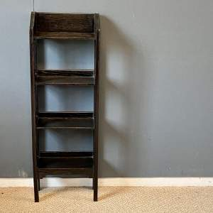 Early 20th Century Small Four Tier Ebonised Bookcase