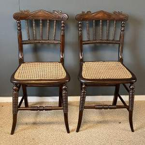Pair of 19th Century Bergere Side Chairs