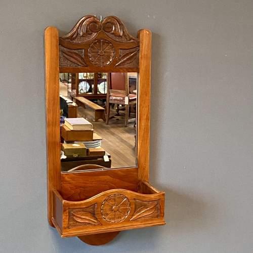 Early 20th Century Oak Framed Hall Mirror image-1