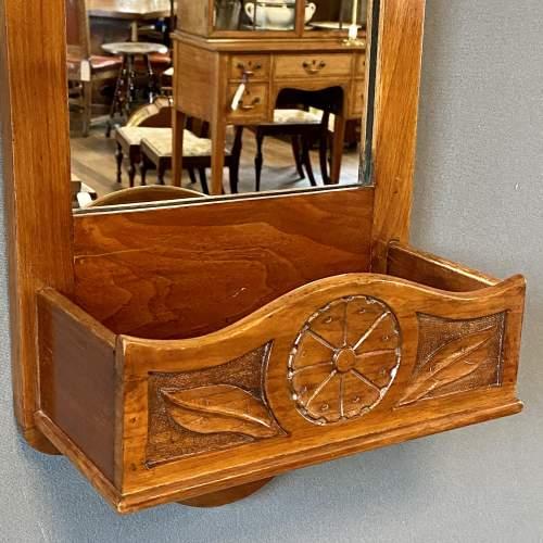 Early 20th Century Oak Framed Hall Mirror image-2