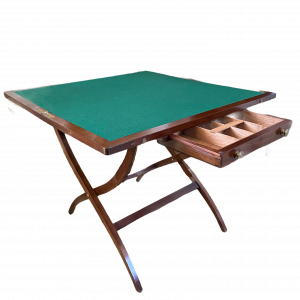 19th Century Campaign Card Table