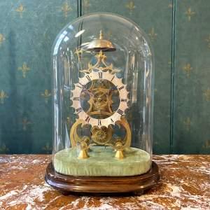 Antique Mid 19th Century Gothic Skeleton Clock