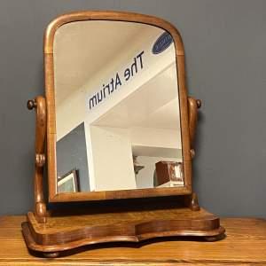 Large Victorian Mahogany Swing Mirror