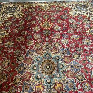 Old Hand Knotted Persian Rug Tabriz Superb Quality And Design