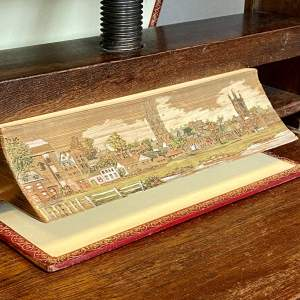 19th Century Fore Edge Painted Book The Riches of Chaucer