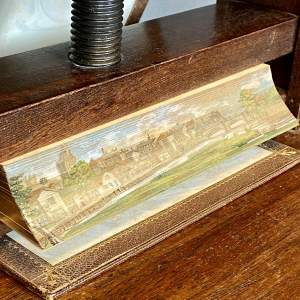 19th Century Fore Edge Painted Book The Works of Lewis Morris