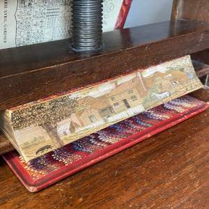 19th Century Fore Edge Painted Hand Book for Young Painters