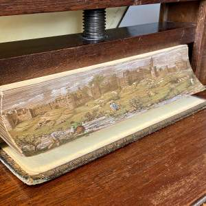 19th Century Fore Edge Painted Book Wordsworth, C. Poetical Work