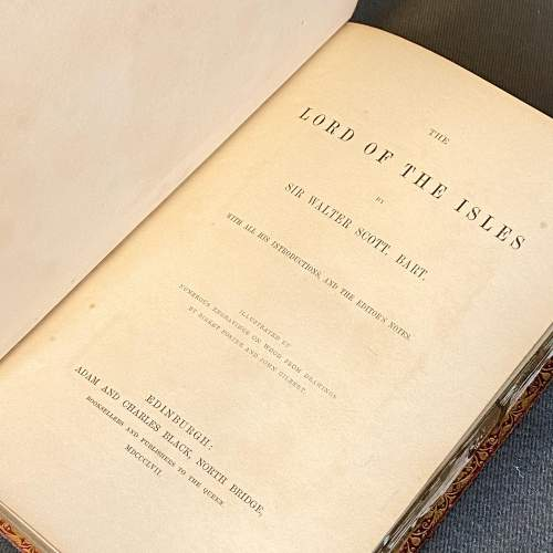 19th Century Fore Edge Painted Book The Lord of the Isles image-6