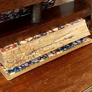 19th Century Fore Edge Painted Book Lectures on Modern History