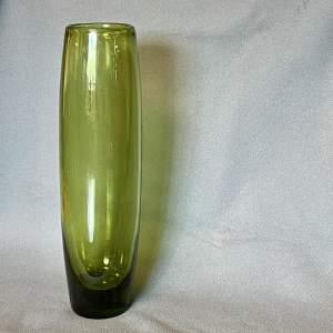 Tall 1960s Holmegaard Maygreen Vase by Per Lutken