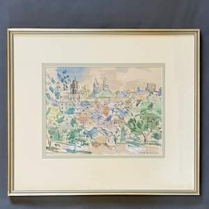 Keith Baynes Watercolour titled Lockes Indre et Loire