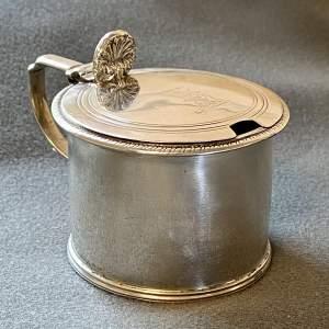 19th Century Silver Mustard Pot Holder