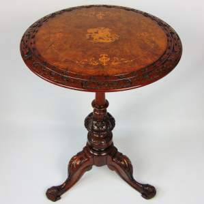 A Victorian Burr Walnut Occasional Table