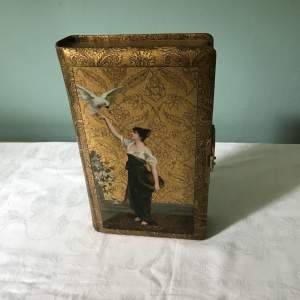 Late 19th Century Aesthetic  Movement  Photograph  Album. Lady with Bird