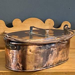 English Copper Oval Cooking Vessel