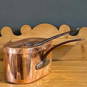 Vintage French Copper Rectangular Fish Pan
