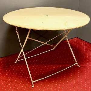 1950s French Round Folding Garden Bistro Table