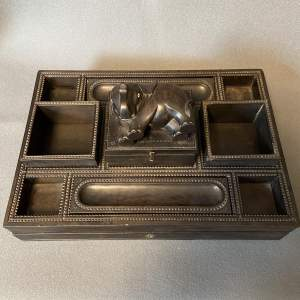 Early 20th Century Anglo-Indian Hardwood Desk Tidy
