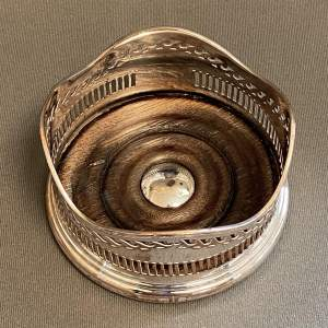 19th Century Silver Plated Wine Coaster