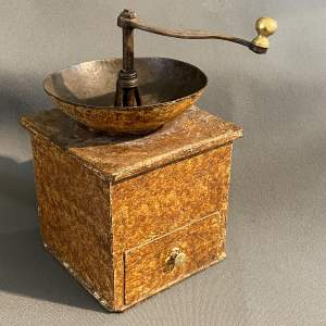 19th Century Swedish Scumble Folk Art Coffee Grinder