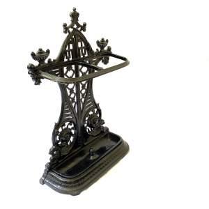 Black Painted Victorian Cast Iron Stick Umbrella Stand