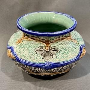 Majolica Short Butterfly Vase