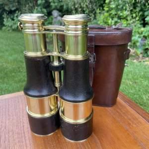 Fine Triple Lens Binoculars And Case Lemaire Paris