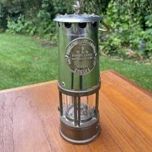 A Brass Miners Lamp  Eccles Type 6 M and O Saftey Type