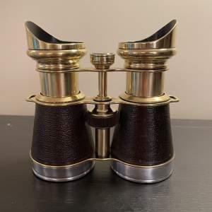 A Fine Pair 19th Century Binoculars With Compass Iris Paris
