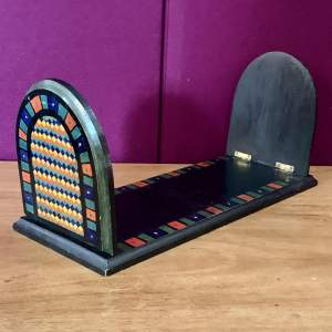 Arts and Crafts Painted Book Stand