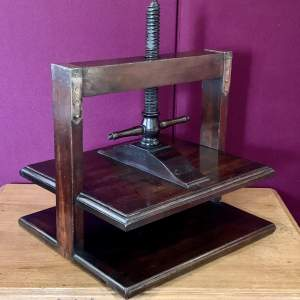 Victorian Mahogany And Brass Book Press