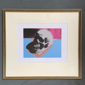 Andy Warhol Lithographic Print Of A Skull