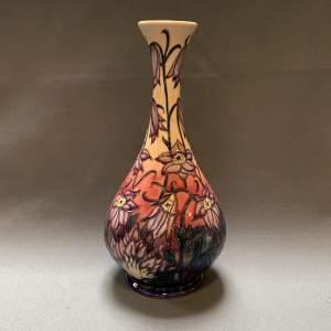 Moorcroft Pottery Pasqueflower Vase