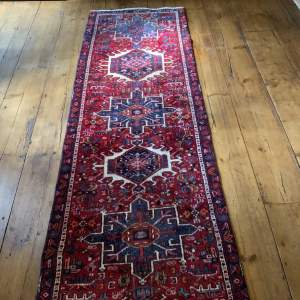Superb Quality Old Hand Knotted Persian Runner Karaja Wonderful